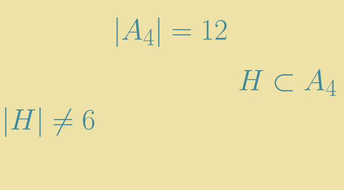 Converse of Lagrange's theorem does not hold