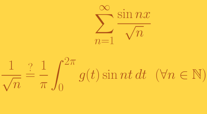 A trigonometric series that is not a Fourier series (Riemann-integration)