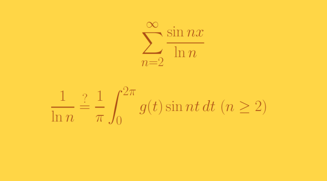A trigonometric series that is not a Fourier series (Lebesgue-integration)