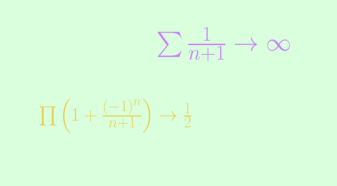 Counterexample around infinite products