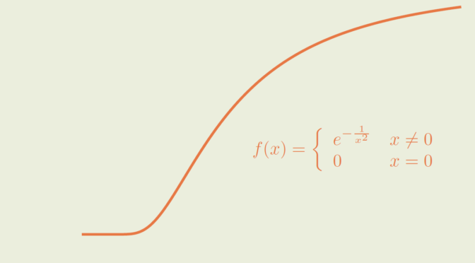 A positive smooth function with all derivatives vanishing at zero
