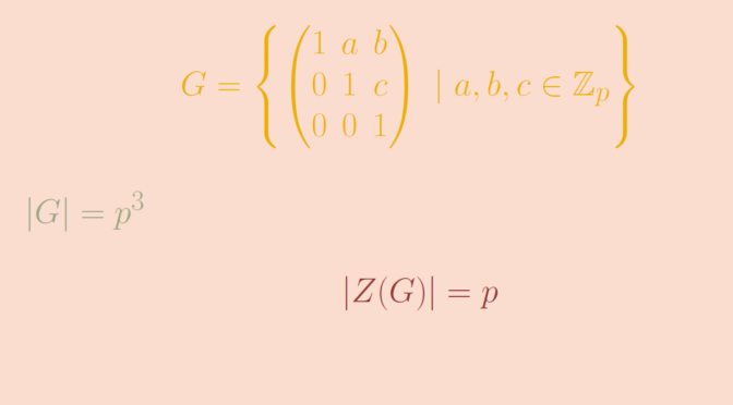 A nonabelian \(p\)-group