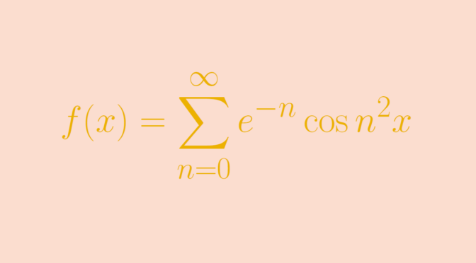 A function whose Maclaurin series converges only at zero