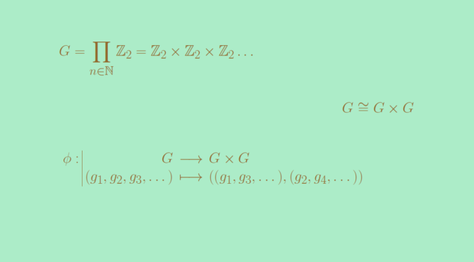 A group G isomorph to the product group G x G