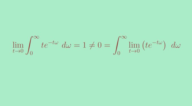 Continuity under the integral sign