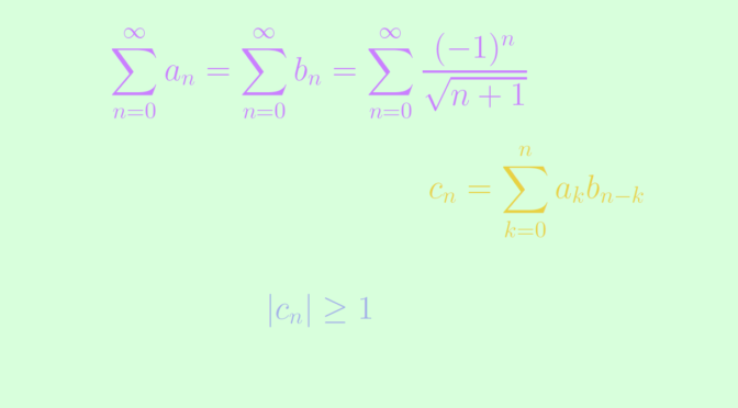 Counterexamples around the Cauchy product of real series