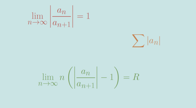 Raabe-Duhamel's test