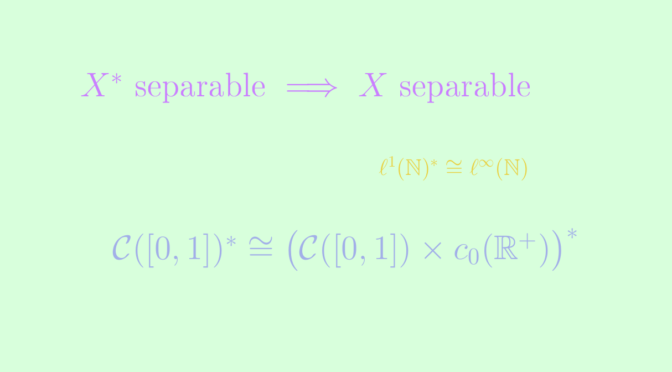 Separability of a vector space and its dual